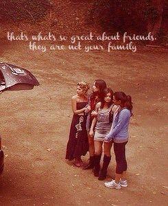 Для того и нужны друзья, они принимают тебя любого в отличии от семьи.