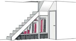 25 beste idee n over onder de trap opslag op pinterest trap opslag trap opslag en schappen - Idee opslag cd ...