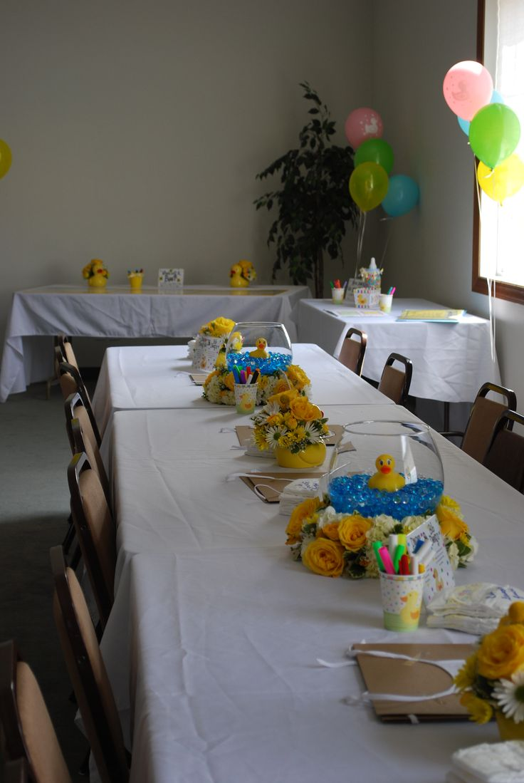 best 25 rubber duck centerpieces ideas on pinterest rubber rubber duck baby shower gender neutral table settings for my daughters first baby shower