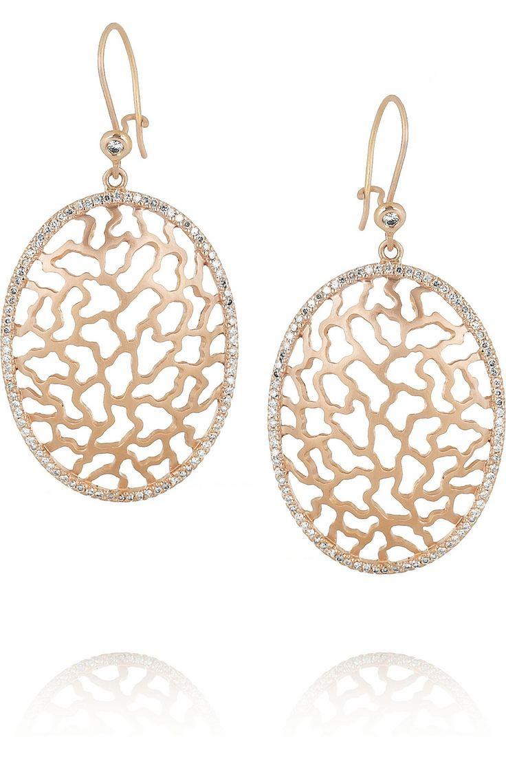Ileana Makri|Ishtar 18-karat rose gold diamond earrings|NET-A-PORTER.COM