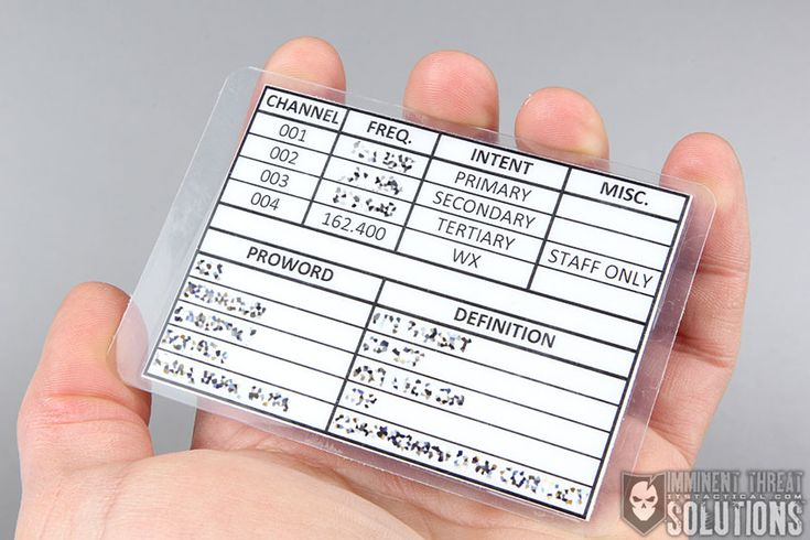 Create a Frequency Card