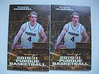 For Sale - 2 PURDUE BOILERMAKERS NCAA mens Basketball Pocket Schedule lot ROBBIE HUMMEL