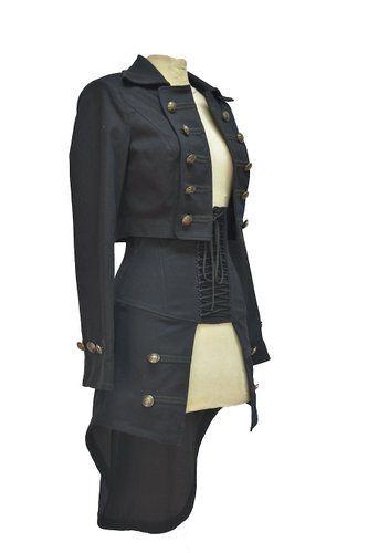 Veste courte steampunk Gothique Aristocrate Femme militaire - Pentagramme: Amazon.fr: Vêtements et accessoires