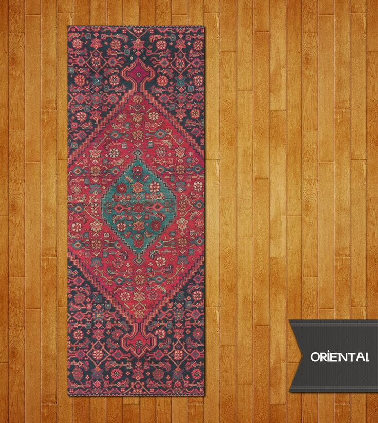 Oriental Yoga Mat. *Gong... Meditate. 1/4″/6.2mm Thick