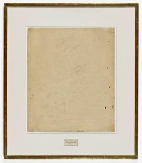 Robert Rauschenberg, Erased de Kooning Drawing, 1953 // SFMOMA