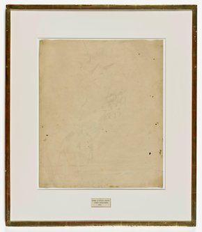 Robert Rauschenberg, Erased de Kooning Drawing, 1953 // SFMOMA