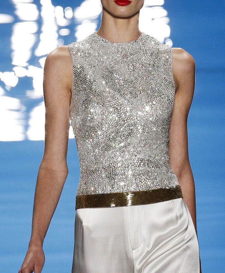 sparkling minimalism- Reem Acra NYFW Spring 2013