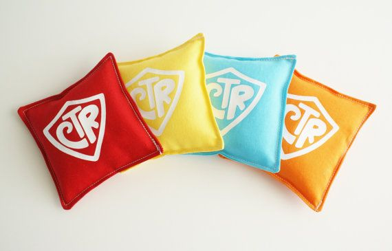 Bean Bags Toys  WASHABLE  Set of Four  CTR by GrandmasChalkboard, $12.00 These would be great to use in Primary, Music Time, and Family Home Evening. Perfect for LDS Primary teachers to have in their church bag!