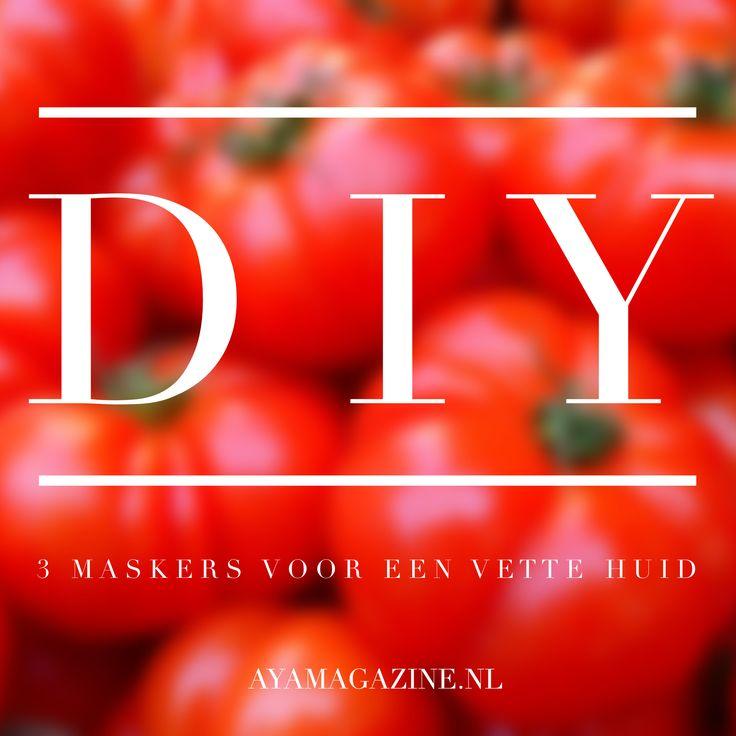 3 DIY maskers voor een vette huid, lees het op www.ayamagazine.nl