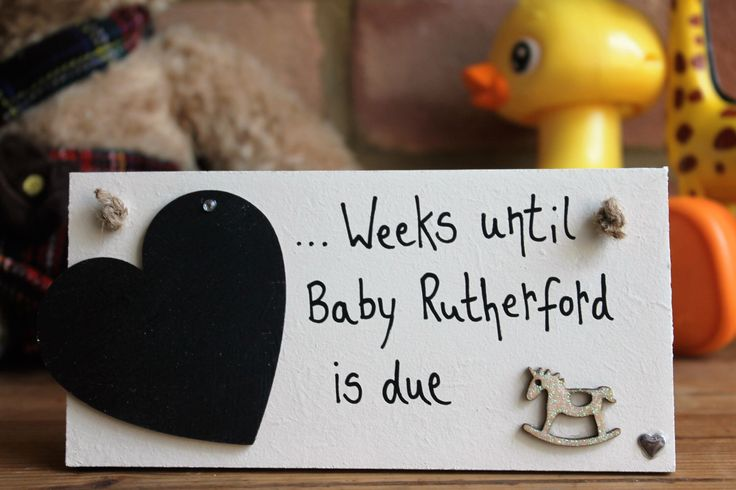 Personalized Baby Countdown Plaque, Baby Countdown, baby countdown blocks, Pregnancy Gift, Baby Shower Gift, Baby Countdown Sign by MadeAt94 on Etsy https://www.etsy.com/listing/456865866/personalized-baby-countdown-plaque-baby
