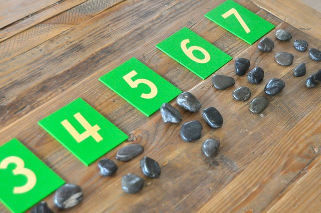 Odd & Even River Rock Counting/Sorting (from Sorting Sprinkles)