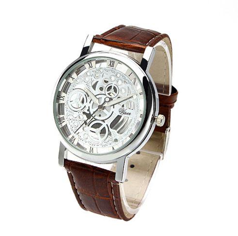 PU Leather Strap Quartz Wristwatch