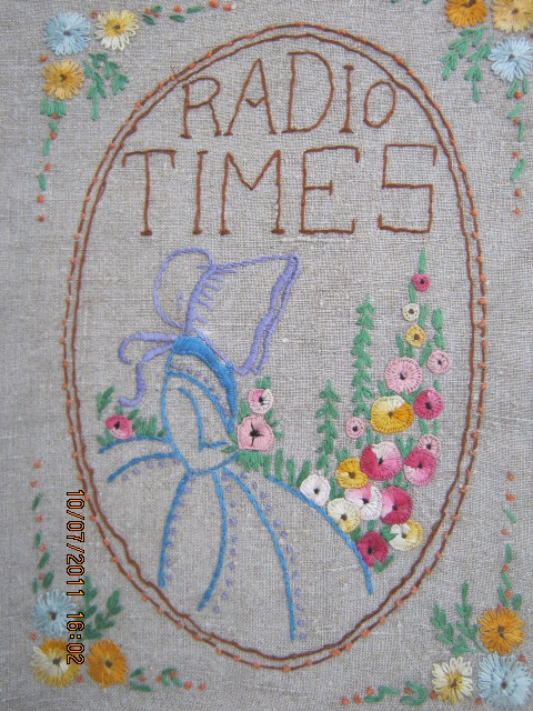 Radio Times cover 1930s. Love the sunbonnet. Is Crinoline Lady the English Sun Bonnet Sue?