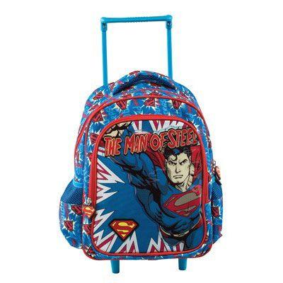Superman Σχολική Τσάντα Νηπιαγωγείου Trolley