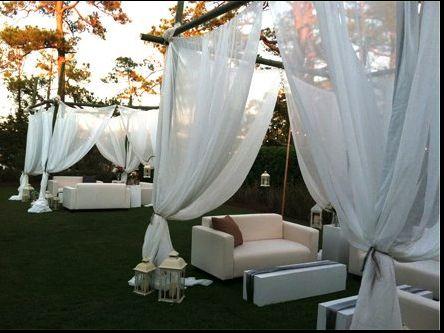 Draped lounge, Bella Flora FB page
