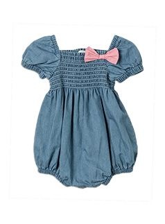 Baby Girls + Accessories Shortie All In One Chambray all in one