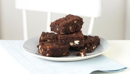 Triple chocolate brownies - outrageously tempting