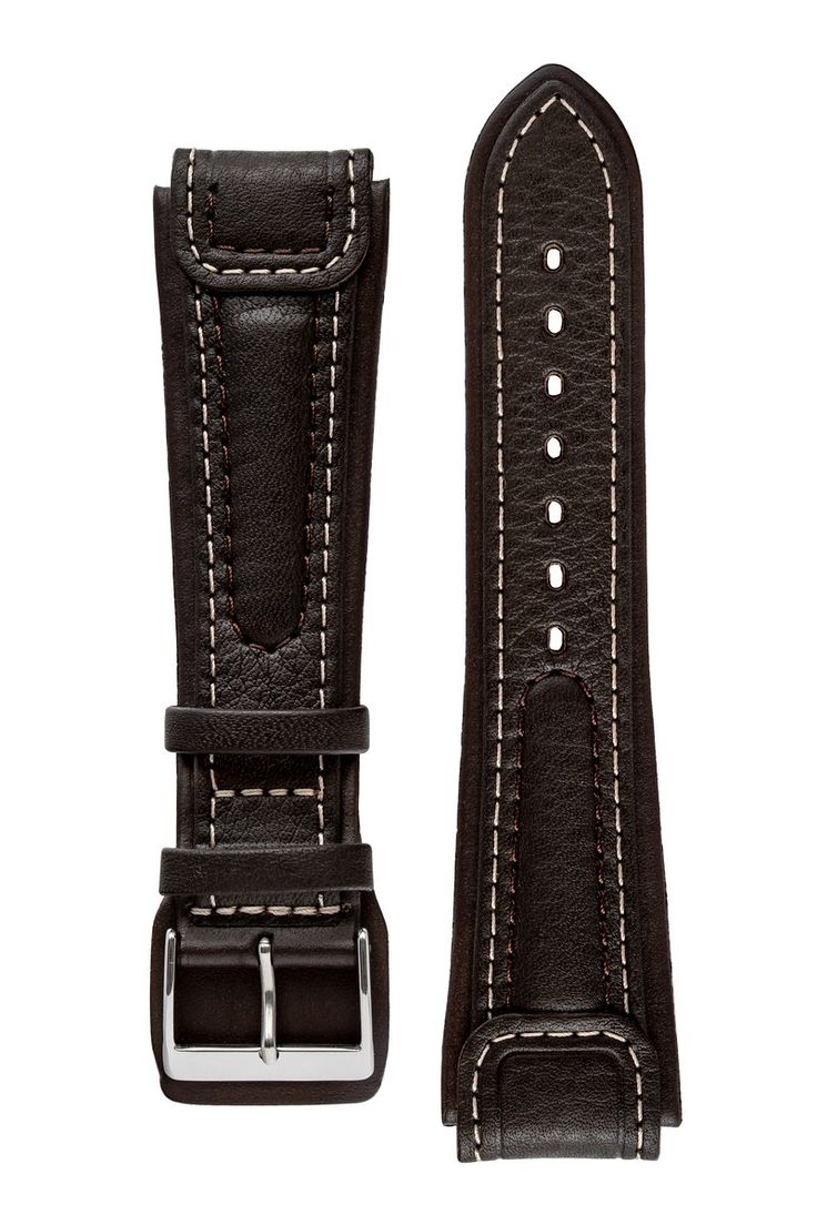 Dimodell chronissimo waterproof leather watch strap in