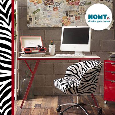 Un toque de #AnimalPrint #Homy #Deco #Decor #Escritorio #cebraprint