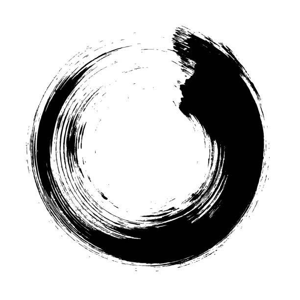 Enso Circular Brush Stroke Japanese Zen Circle Calligraphy N 10