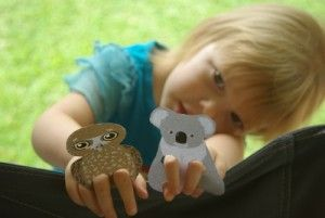 Fun Australian animal printable finger puppets. Great for imaginative play and story telling