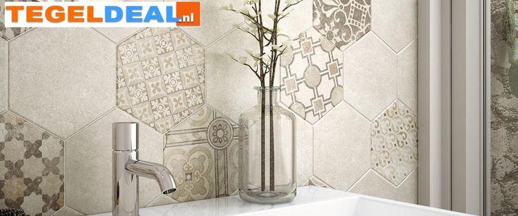 Badkamer Design Limburg : Tegels Limburg - Vloertegel Hexatile Cement ...