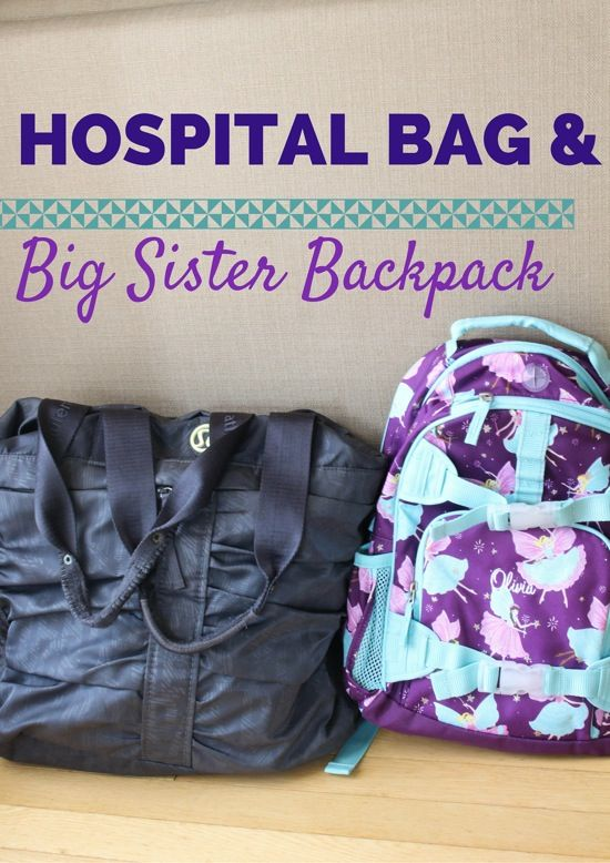 Family: Hospital bag for baby #2 + big sister bag for Livi