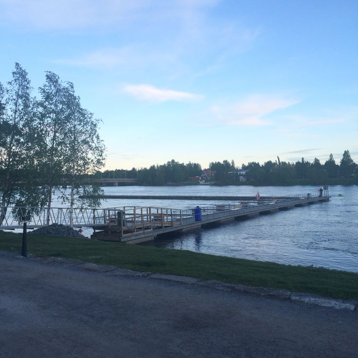 Finally! The deck to be a dock is back in Umeå.