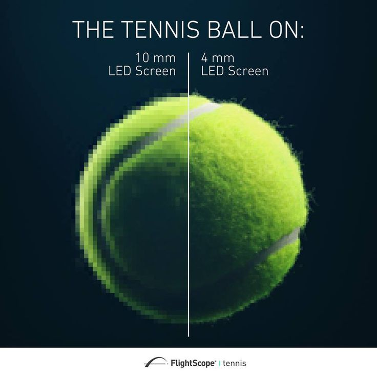 LED screens provided by FlightScope tennis