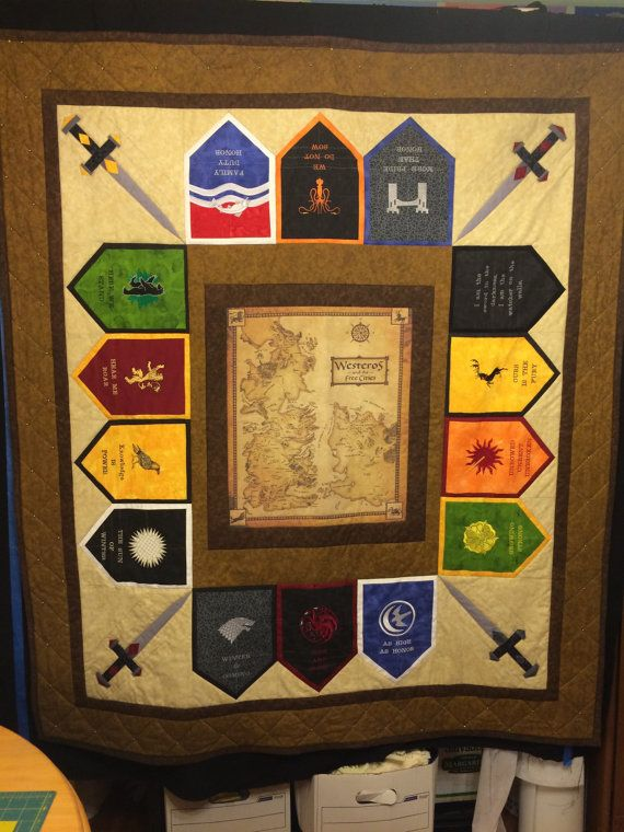 Game of Thrones Quilt by StringTheoryFabArt on Etsy