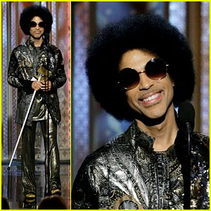 Prince 2015 | Prince Makes Surprise Appearance at Golden Globes 2015! - MEGASABI