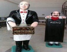 Waiter Statue