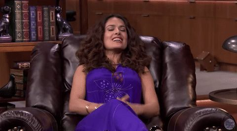 excited yes yeah fallontonight cheer salma hayek latina the tonight show starring jimmy fallon latinawomen #humor #hilarious #funny #lol #rofl #lmao #memes #cute