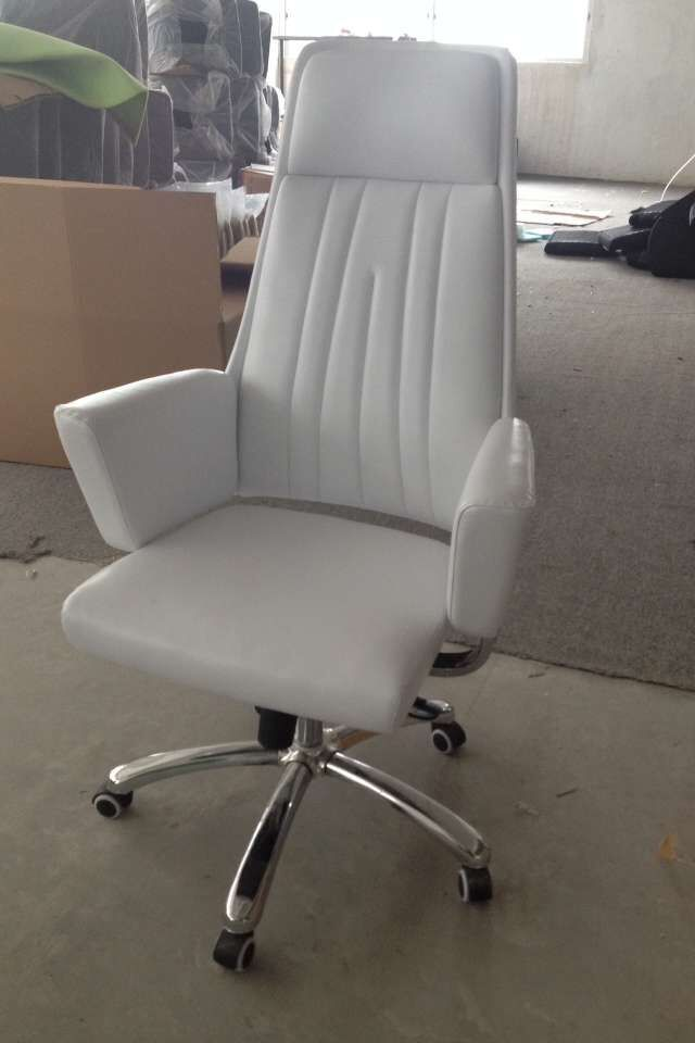 China Supplier Promotional Luxury Fancy Office Chairs High Back Leather Boss Chair With Armrest