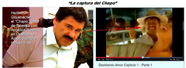 #GDL pic.twitter.com/xUQMwBz51M @AristotelesSD @EPN #Chapo  nunca piso la carcel, todo fue un #MontajesTelevisa  @RealAlexJones   Recordemos esta columna publicada, fue una burla para los Mexicanos   Ya se supo, el hombre que nuestras autoridades capturaron el sábado 22 de febrero de 2014 no era Joaquín El Chapo Guzmán, sino un actor de Televisa.  Se llama Heriberto Goyeneche y si usted se mete a YouTube y mira con detenimiento el capítulo uno de Destilando amor, lo va a ver al lado de…