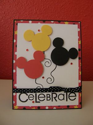 All things Mickey! DIY Birthday Card. Easy Disney craft ideas! ♥