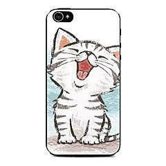 glad kattunge mønster vanskelig sak for iPhone 4 / 4S