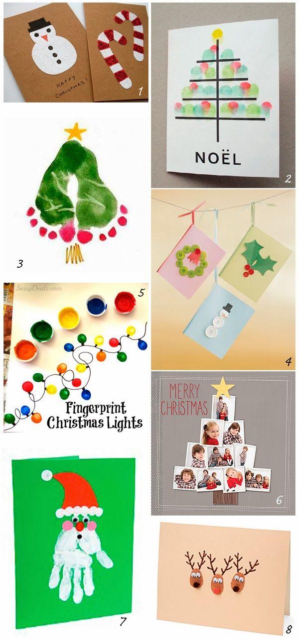 DIY: Xmas cards for kids almagra32: DIY: felicitaciones navideñas