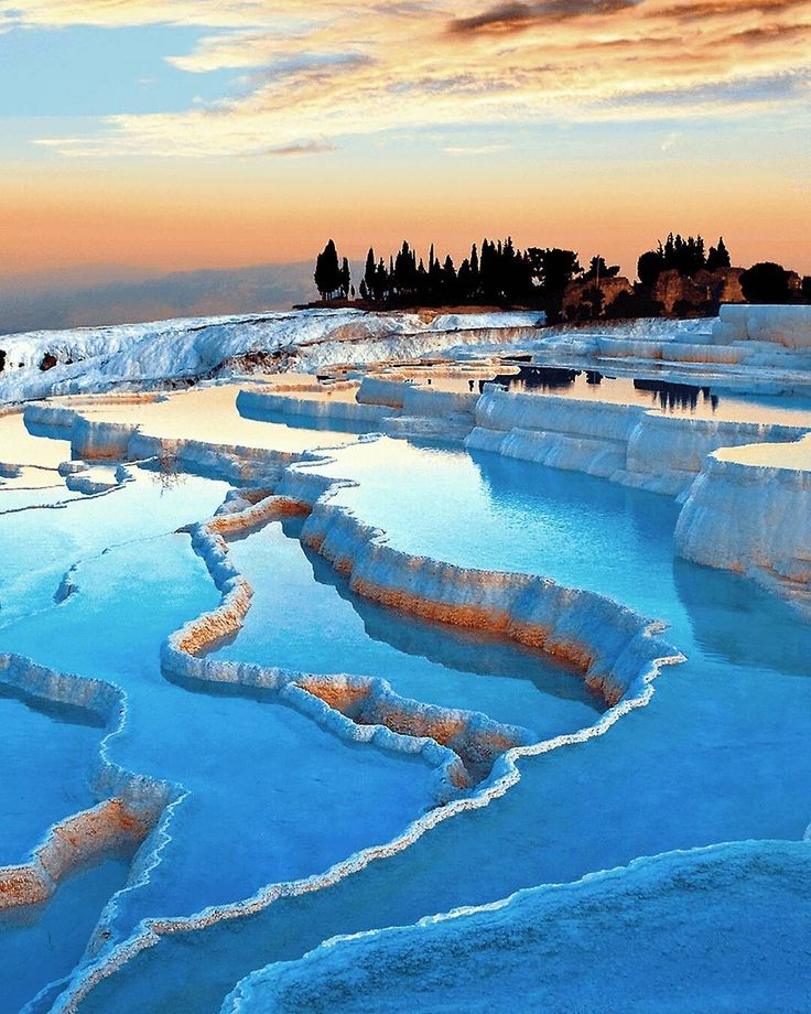 Visit the enchanting and eternal city of Pamukkale. You will never forget it. | Photo by @canerixtk. #Turkey #Pamukkale #UNESCO #Traverten #Travel #Holiday #CottonCastle #WhiteStones