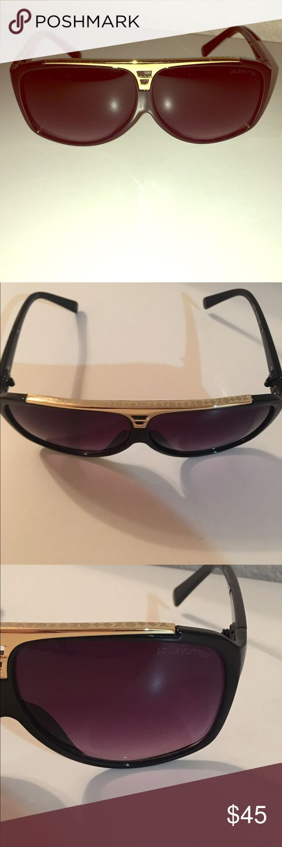 Louis Vuitton evidence sunglasses Brand new never worn was given as a gift. Not quite sure on the authenticity. They look great! Their approximately over $500 however I've googled the sunglasses and they look almost identical as the original with a few minor irregularities on the inside of the frame. Nothing noticeable. Louis Vuitton Accessories Sunglasses