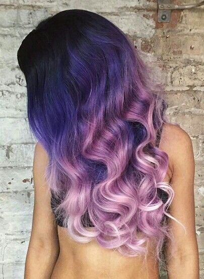 Two tone purple ombre dyed hair