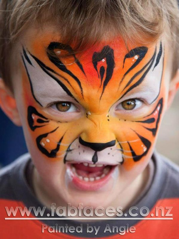 Contact details for Fab Faces Face Painting. Available for bookings NZ wide.