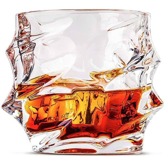 d183651b8f5 Olympus Whiskey Glasses, Double Old Fashioned Rocks Glass - Set of 2 ...
