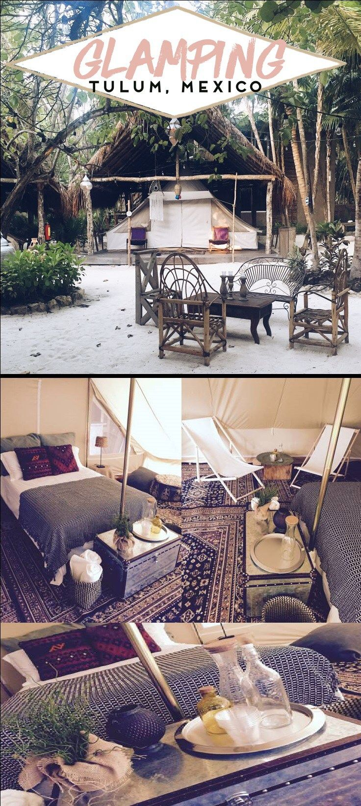Introducing Glamping! AKA glamour camping or fancy camping or luxury camping, whatever you want to call it.