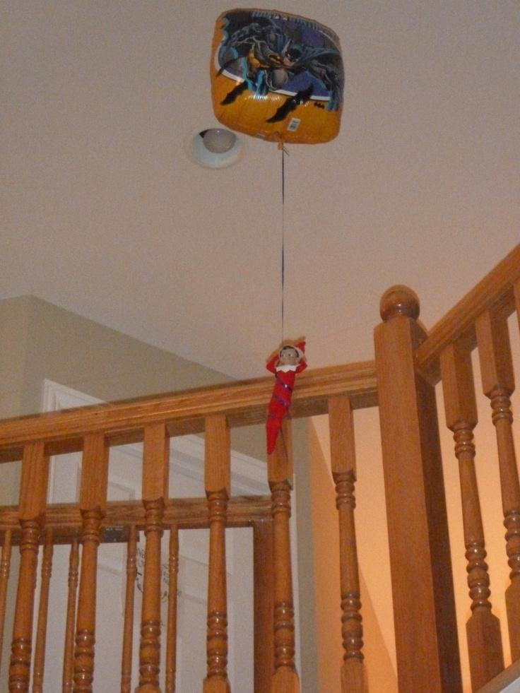 Elf on the Shelf takes flight