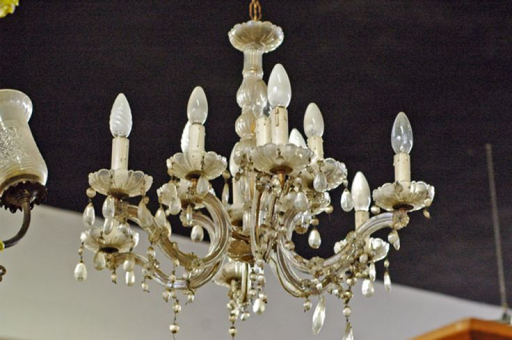 lampadari a gocce di cristallo