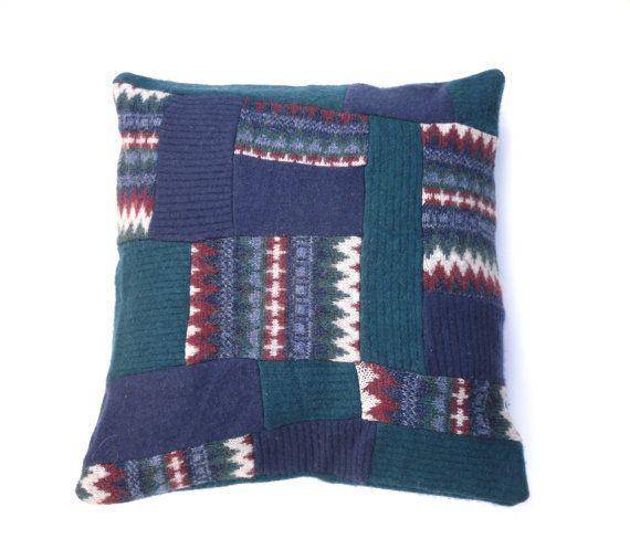 Blue Patchwork cushion £12.50