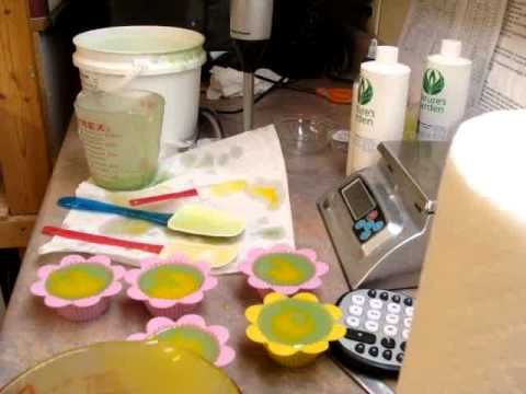 Cold Process - Making Mountain Dew Fragrance Soap Cake and Cupcakes, Part 2