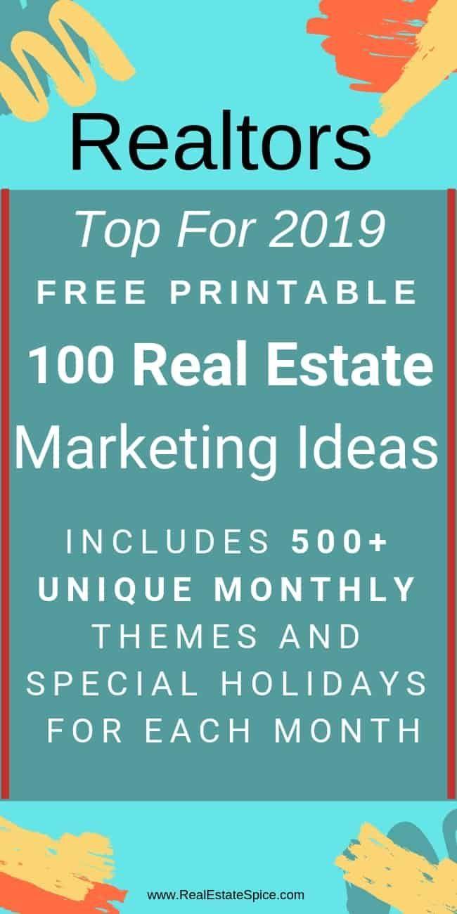 2019 top 100 realtor marketing strategies printable | realtor 6