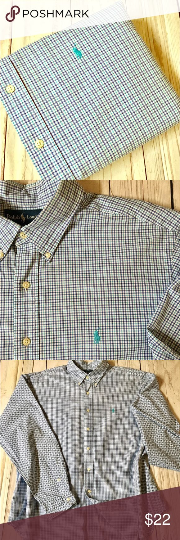"""🐎B1G1 HALF OFF🐎POLO•Ralph•Lauren•XXL•Shirt• 🎈BOGO HALF OFF SALE🎈ENTIRE CLOSET🎈BUY 1 item, & receive 2nd item, of equal or lesser value, for half off. 🎈Contact me to make custom bundle, or bundle yourself & send me the sale price as bundle offer🎈men's  long sleeve button front 100% cotton oxford shirt•XXL CLASSIC FIT per tag•Signature pony at chest•GUC• Chest: 28.5"""" Length: 32"""" Sleeve: 36"""" Shoulder: 21"""" Polo by Ralph Lauren Shirts Casual Button Down Shirts"""